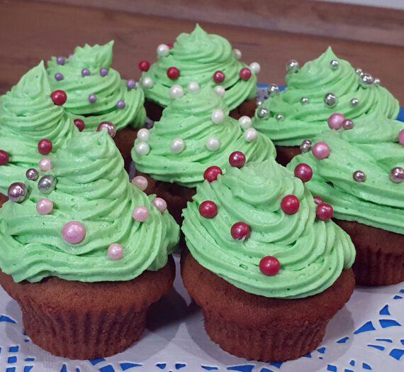 Rezept – Weihnachtsbaum-Cupcakes